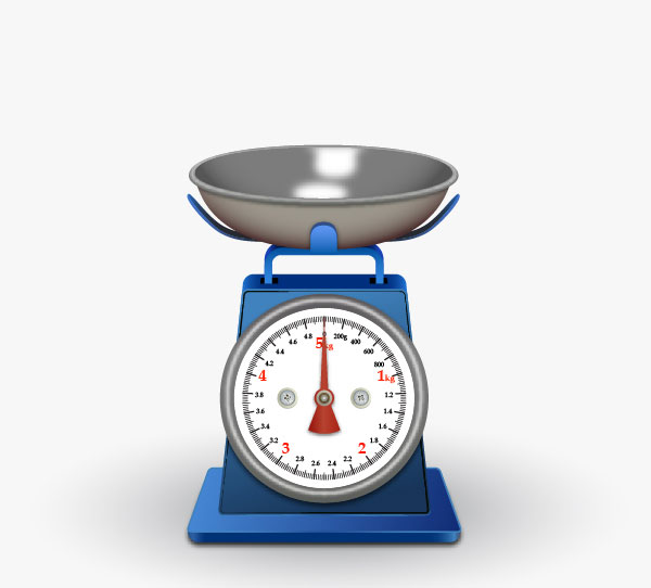 Learn to create a Realistic Kitchen Scale in Adobe Illustrator