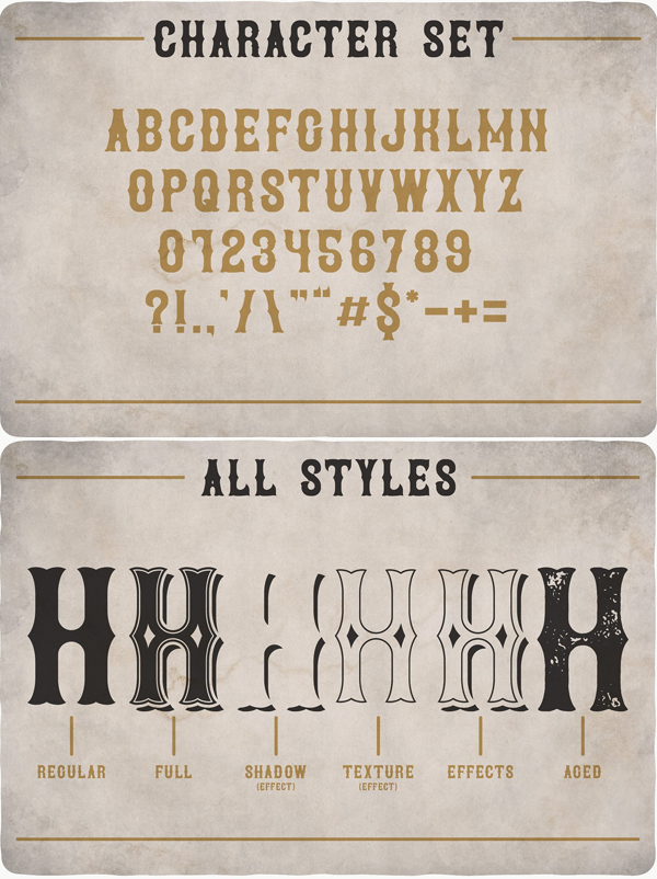 Brewery Vintage Font Letters