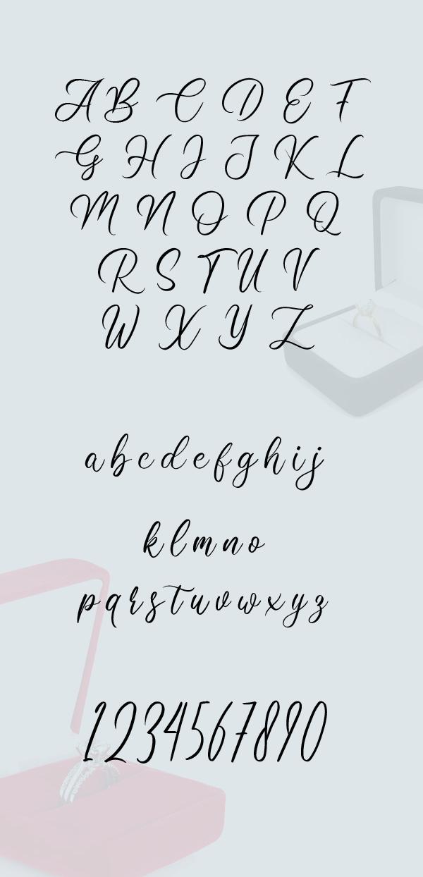 Clarissa Script Font Letters