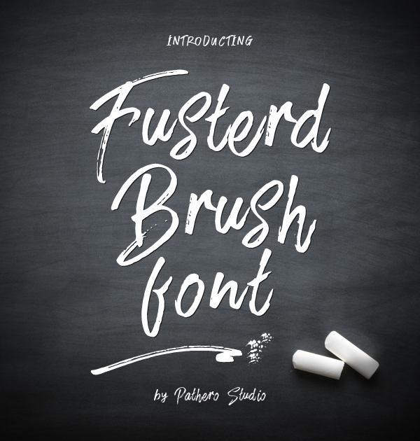 Fusterd Brush Free Font
