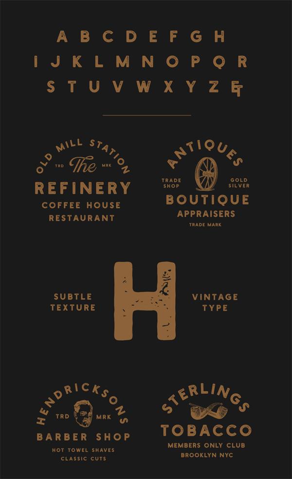 Holtzberg Vintage Font Letters