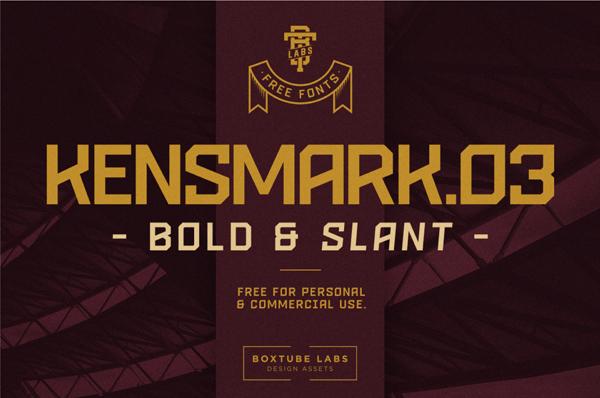 Kensmark Free Font