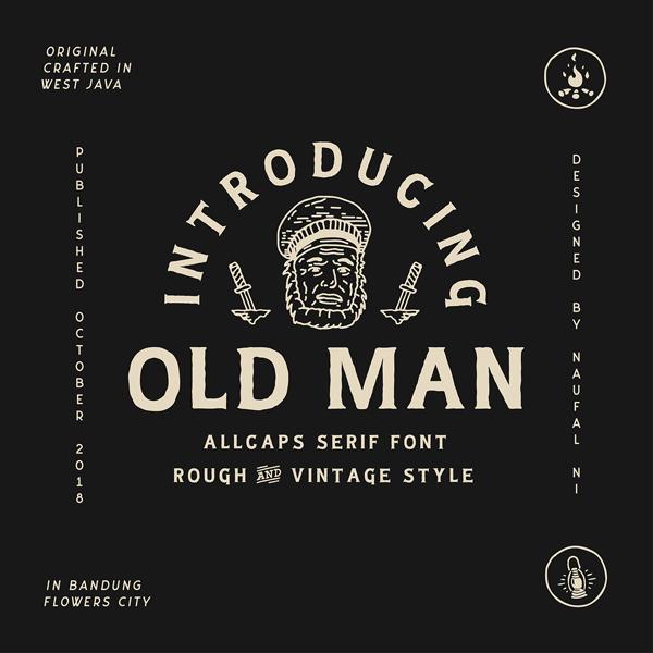 Old Man Vintage Free Font