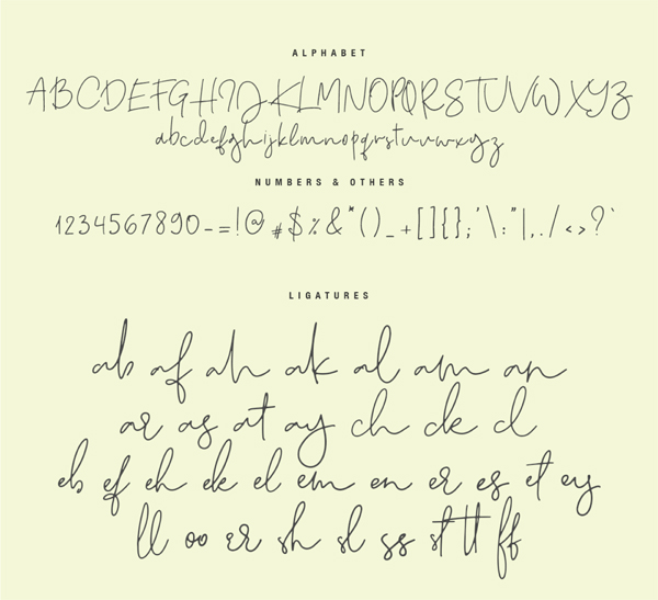 Quake Love Calligraphy Font Letters
