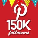 Post thumbnail of Celebrating 150,000 Pinterest followers