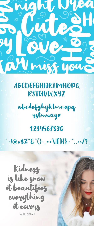 Big Snow Font Letters