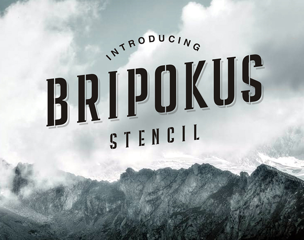 Bripokus Stencil Free Font