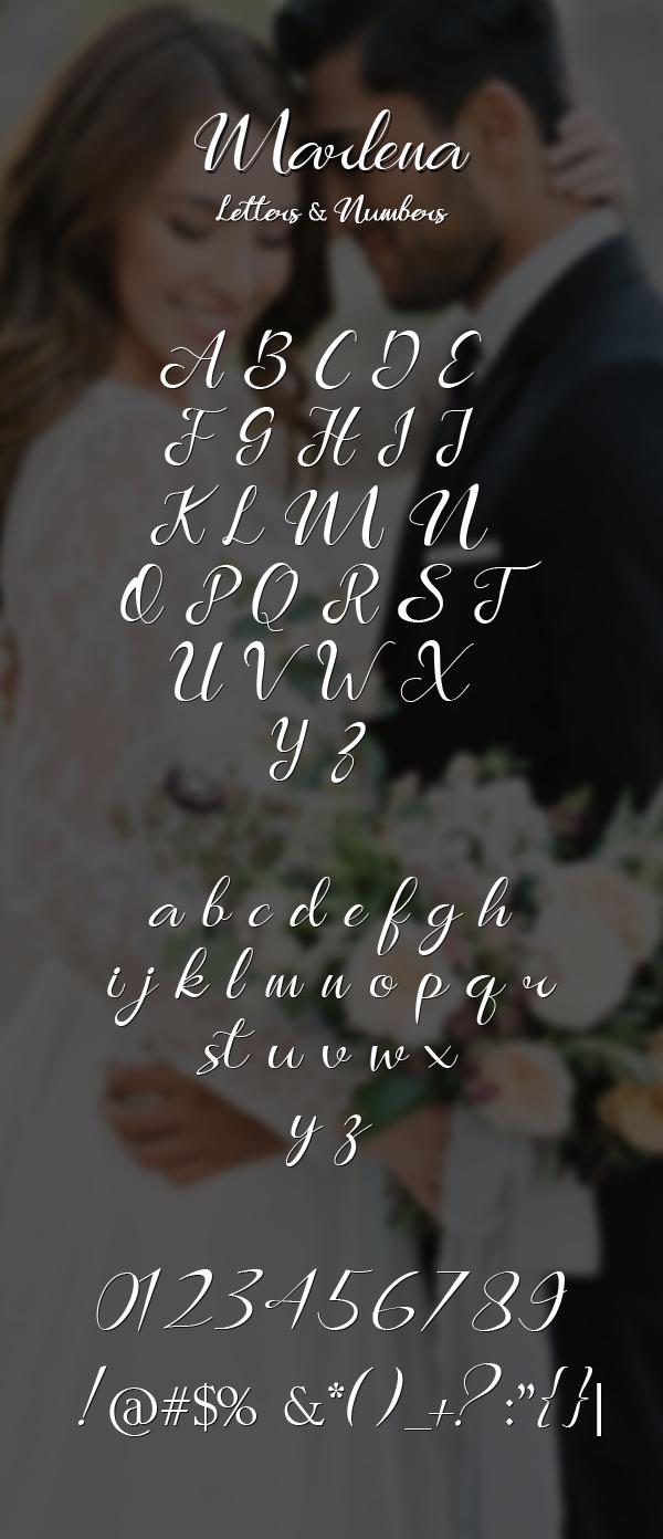 Marlena Font Letters