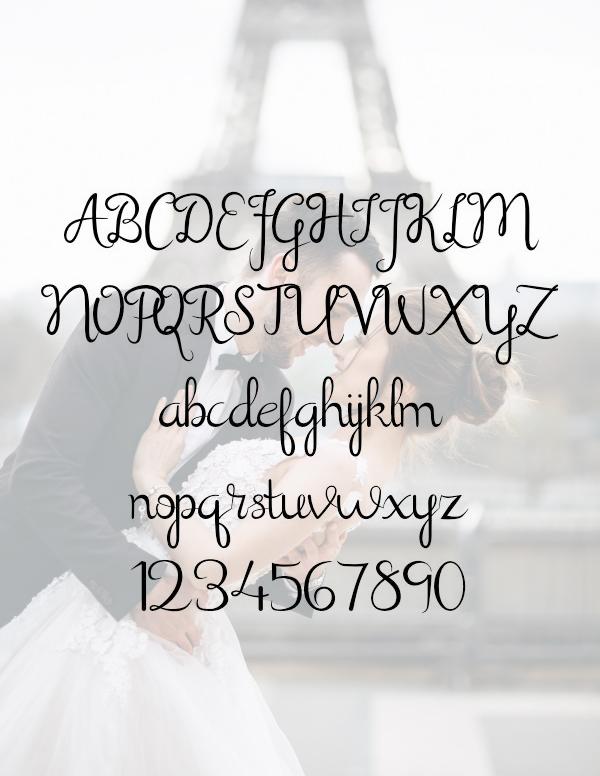 Shathika Modern ScriptFont Letters