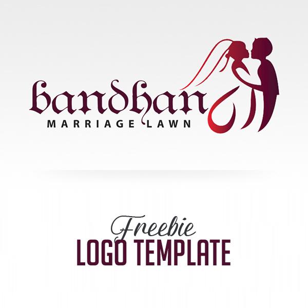 Freebie: Luxury Wedding Logo Template (PSD)
