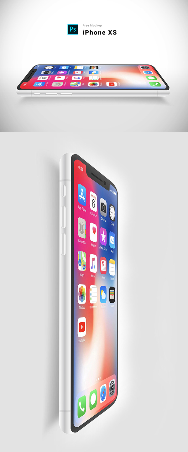 Free Download Awesome iPhone XS Mockup (PSD)