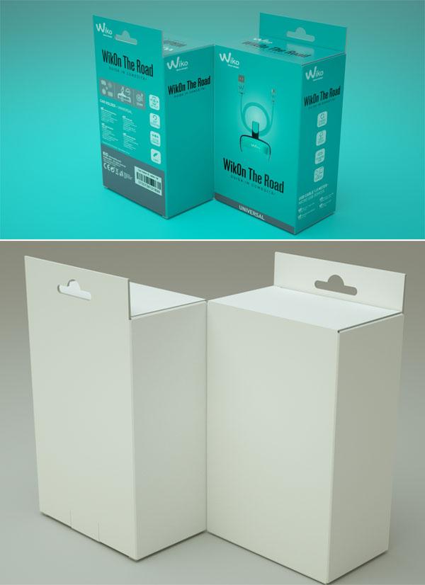 Free Hanging Box Mockup
