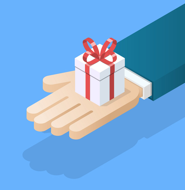 Free gifts for website visitors