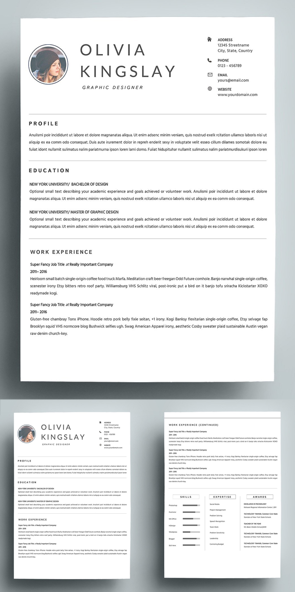 Simple & Clean Resume Template