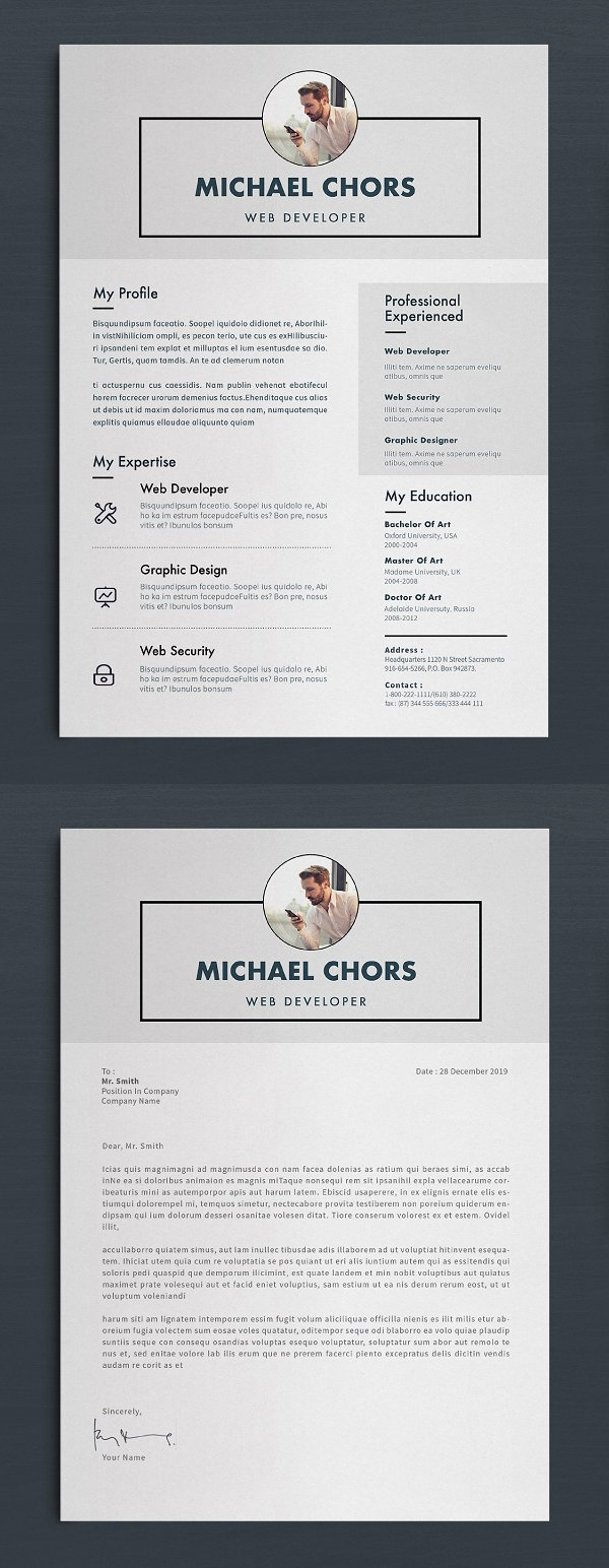 Cool One Page Resume Template