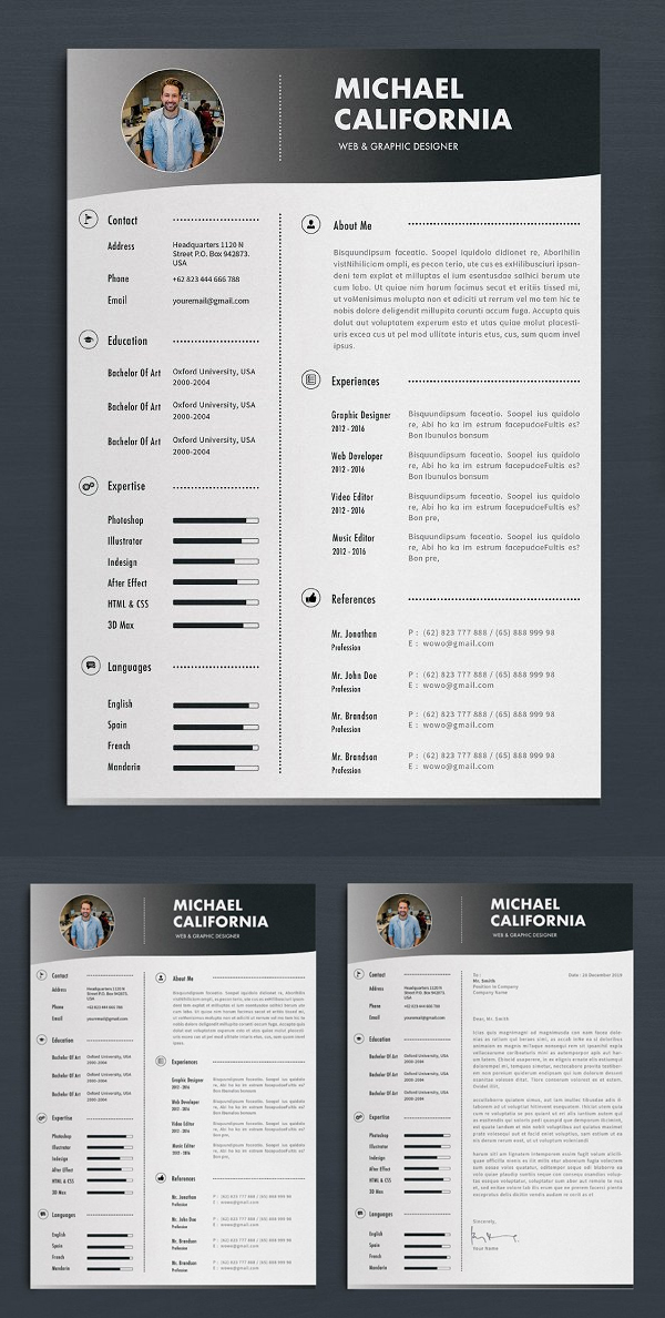 Single Page Resume Template