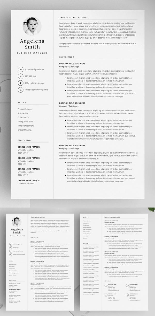 Resume Template Layout / CV