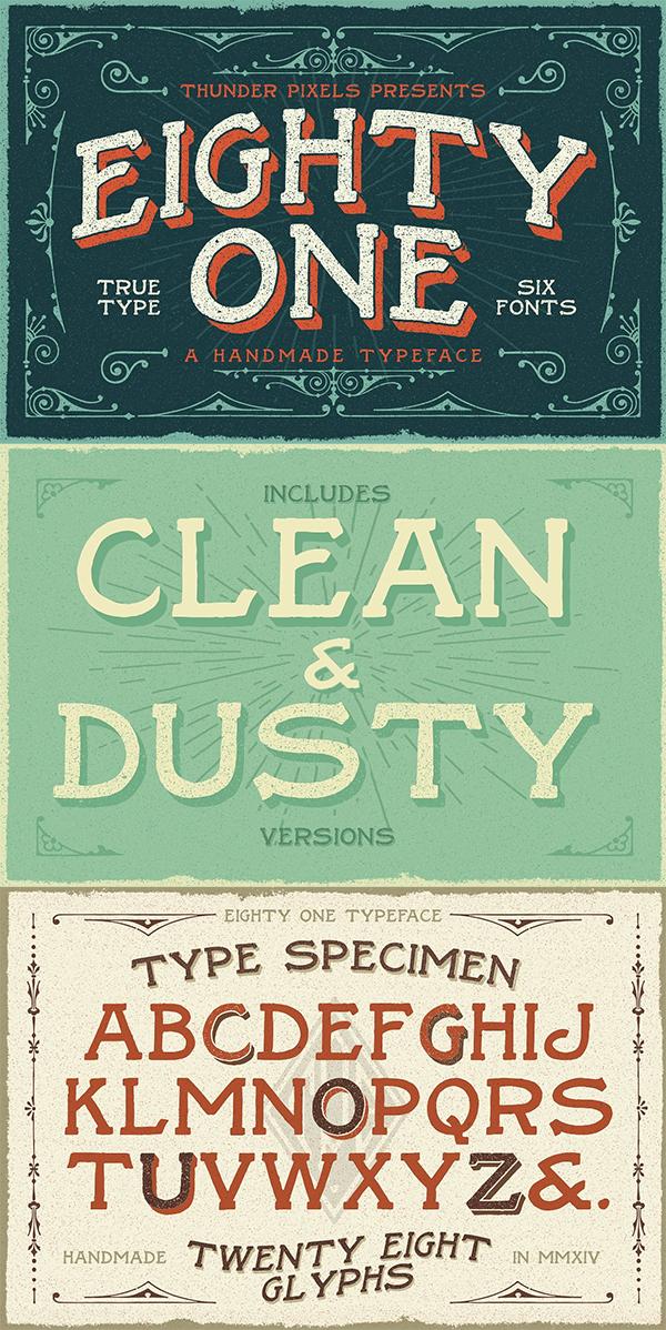 Eighty One Typeface