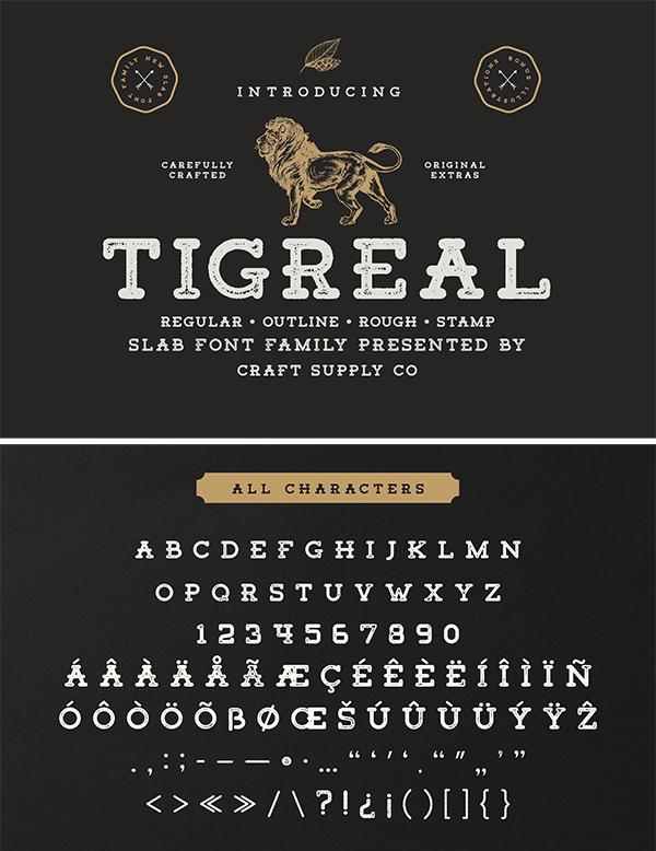 Tigreal Font Family