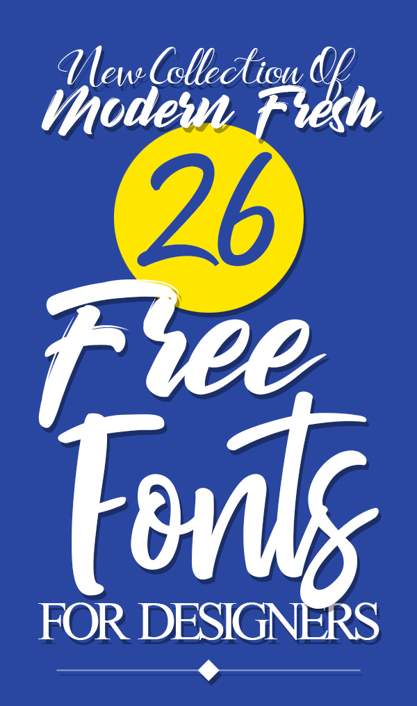 Free Fonts: 26 Fresh Fonts for Graphic Designers
