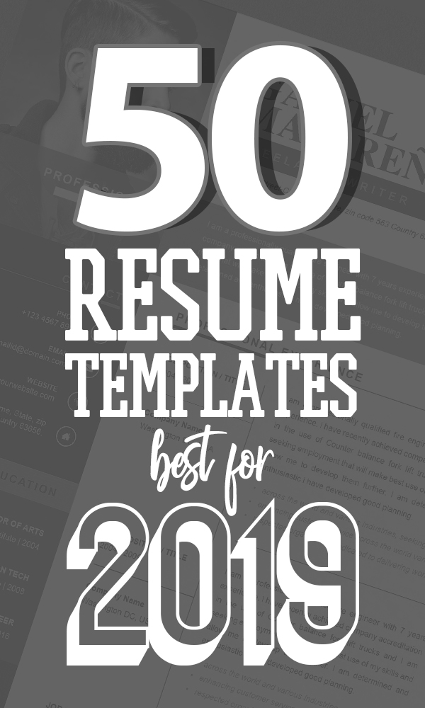 50 Free CV / Resume Templates – Best for 2019
