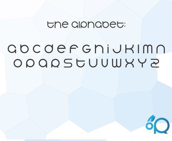Blue Rabbit Font and Letters