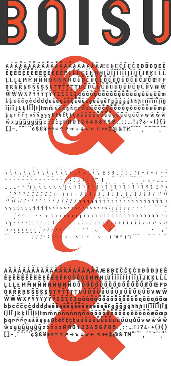 Boisu Font and Letters