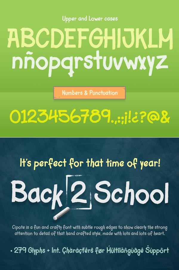 Cipote Font Letters