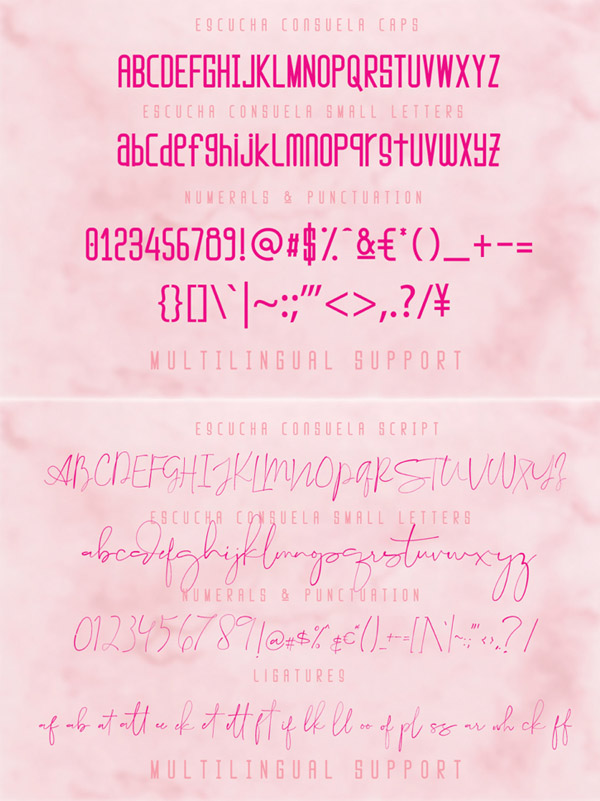 Escucha Consuela Font and Letters