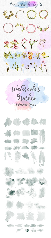 Jane Austin Font Watercolor Brushes