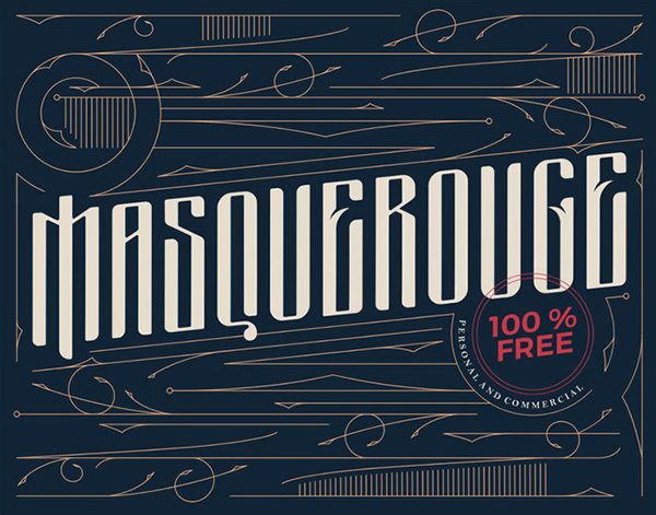Masquerouge Free Vintage Display Font
