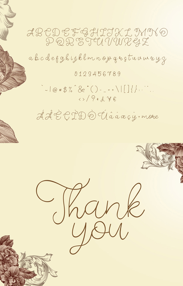 Memory of 2018 Font Font Letters