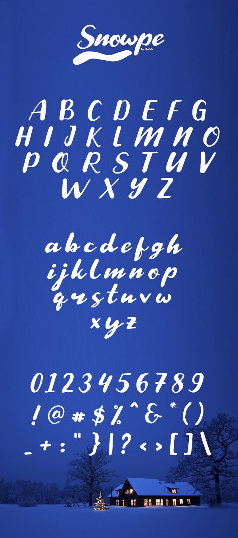 Snowpe Script Font and Letters