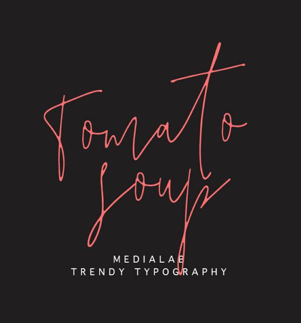 Tomato Soup Free Script Font
