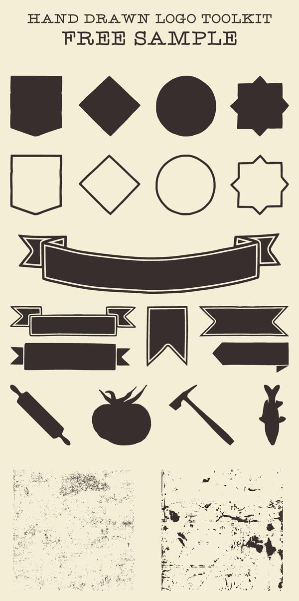 Free Vintage Hand Drawn Logo Toolkit