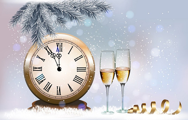How to Create a Holiday Retro Background With Champagne Glasses Design in Illustrator