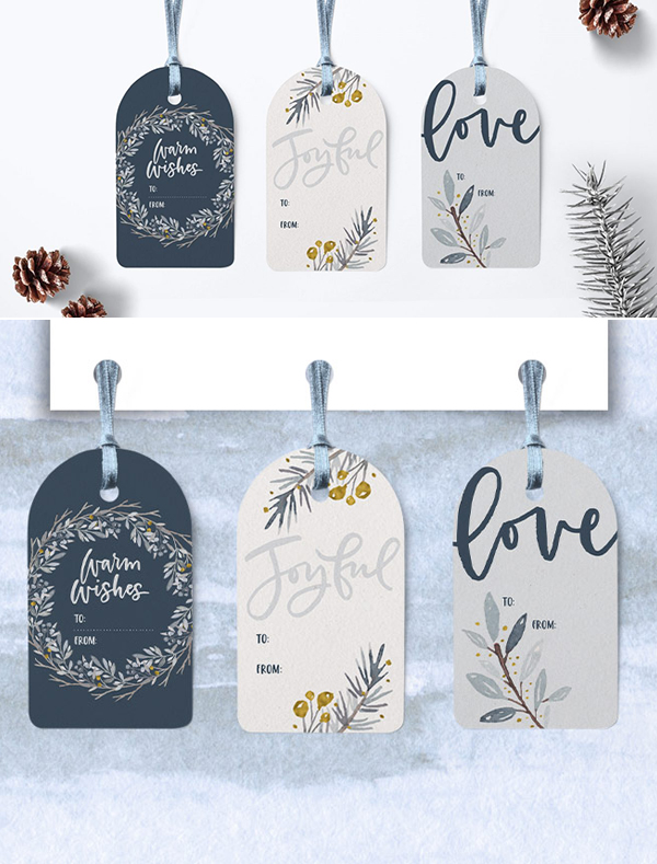 How to Create Winter Watercolor Gift Tags in Illustrator