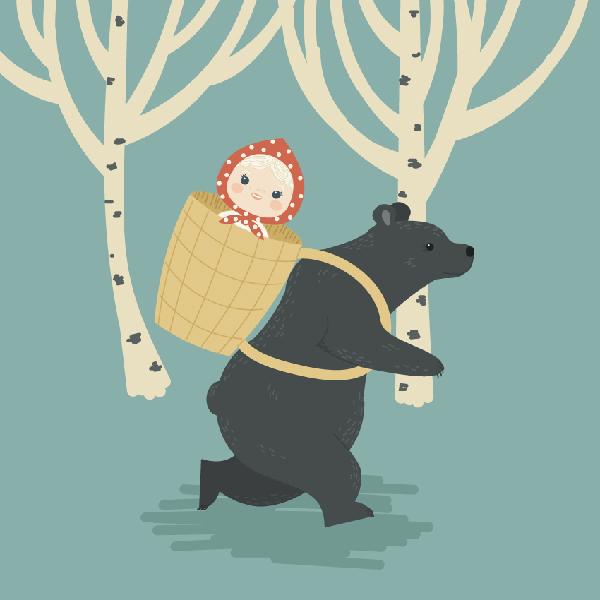 How to Create Masha and the Bear, a Russian Folk Fairy Tale, in Adobe Illustrator