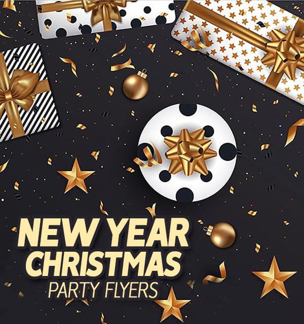Creative New Year 2019 & Christmas Flyer Templates