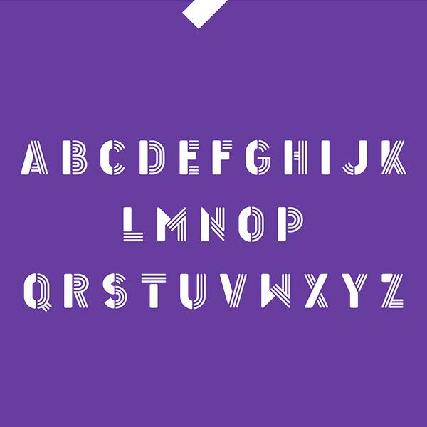 Inverse Font Letters