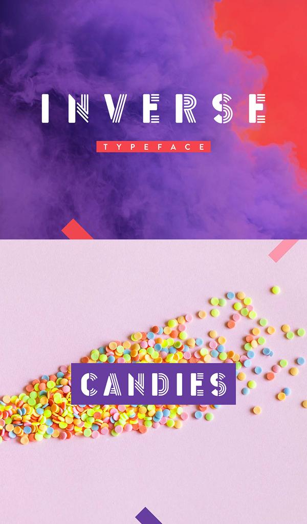 Inverse Free Font