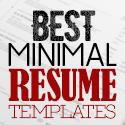 Post thumbnail of 35 Best Minimal CV Resume Templates