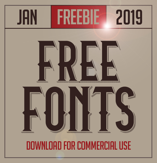 20 New Free Fonts For 2019