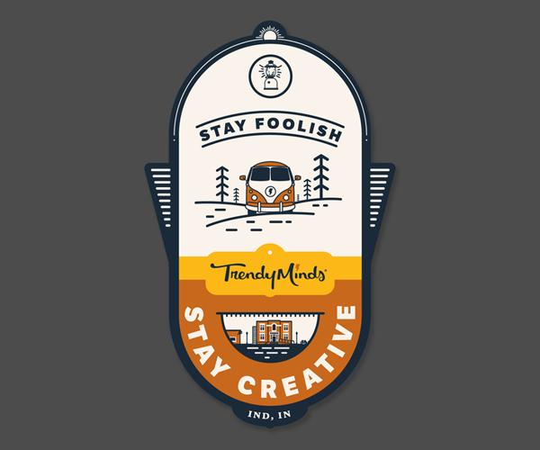 Trendy Minds Badge Logo
