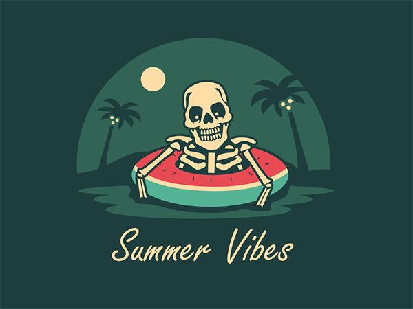 Summer Vibes Logo Design