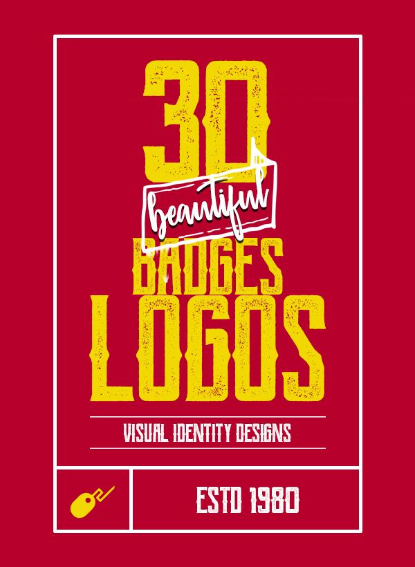 30 Beautiful Badges and Logos Visual Identity Designs