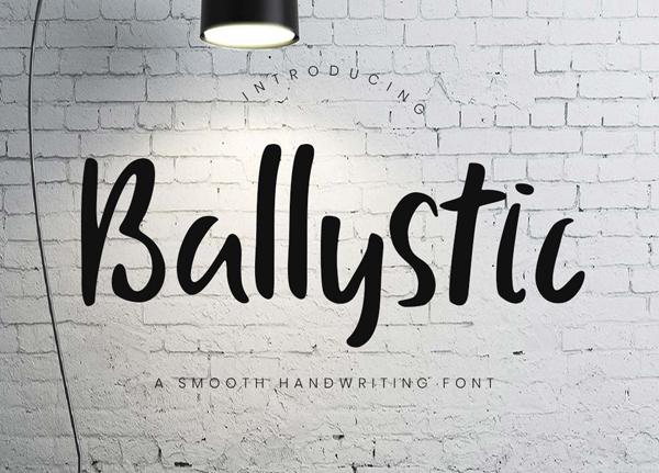 Ballystic Handwriting Free Font