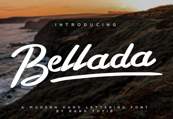 Bellada Brush Free Font