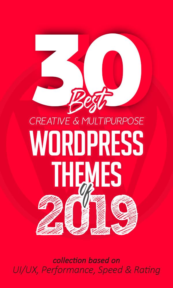 30 Best Creative Multipurpose WordPress Themes Of 2019