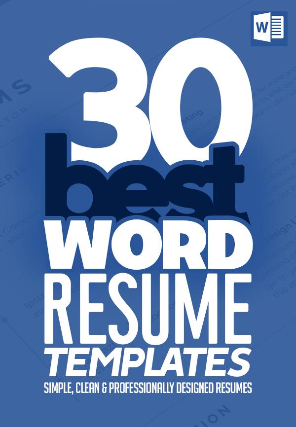 30 Best Word Resume Templates